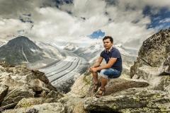 Luis in the Great Aletsch Glacier