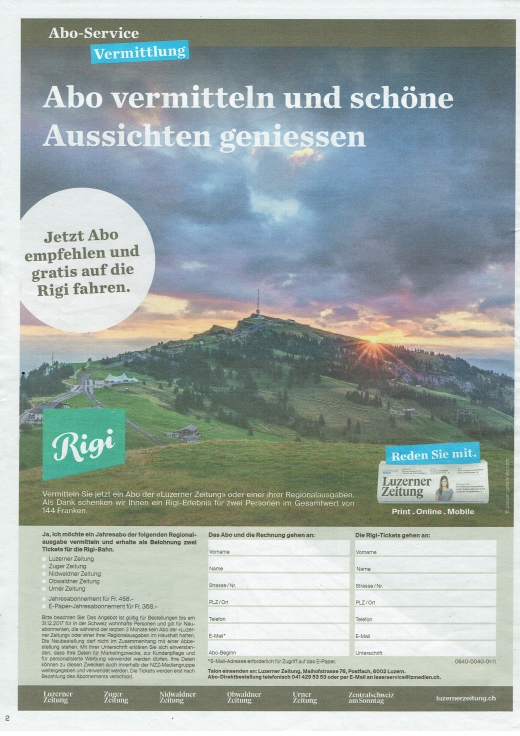 Central Swiss Newspaper