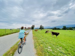 With e-bike through the Swiss Countryside
