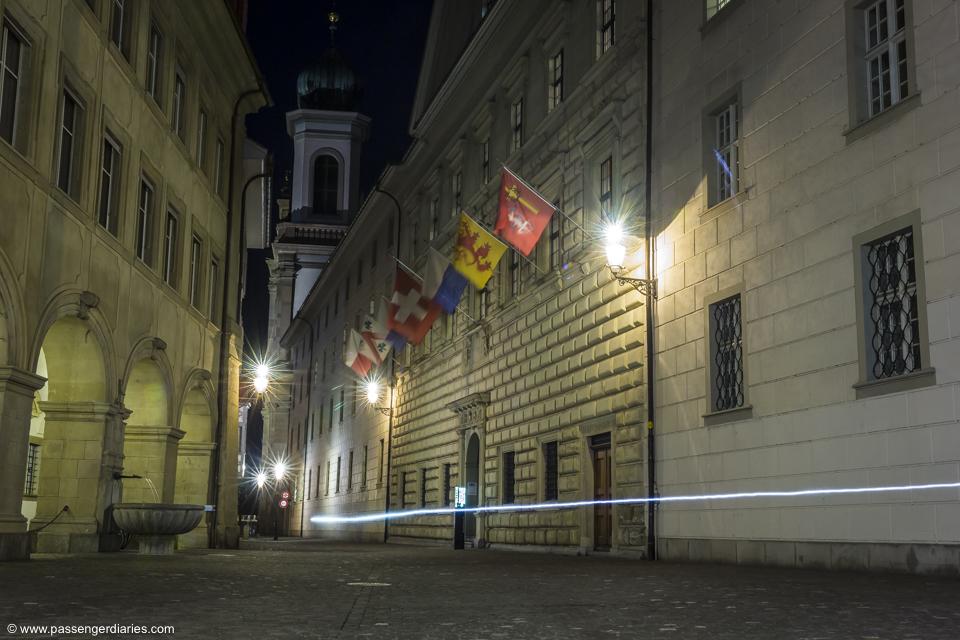 Lucerne night street photo walk