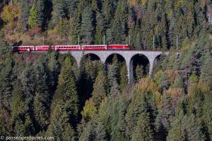 One of the 196 bridges along the Bernina Line