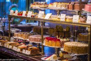 Pastry display at Cafe Demel