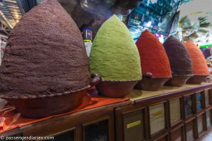 mole powder piles at the market