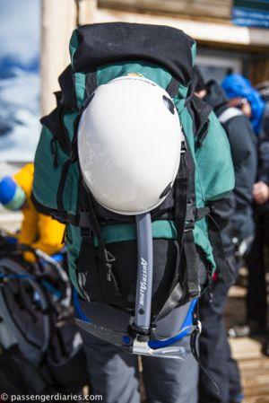 Pers Glacier's wander equipment.