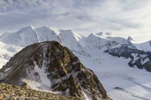 View of Piz Trovat from Sass Queder.